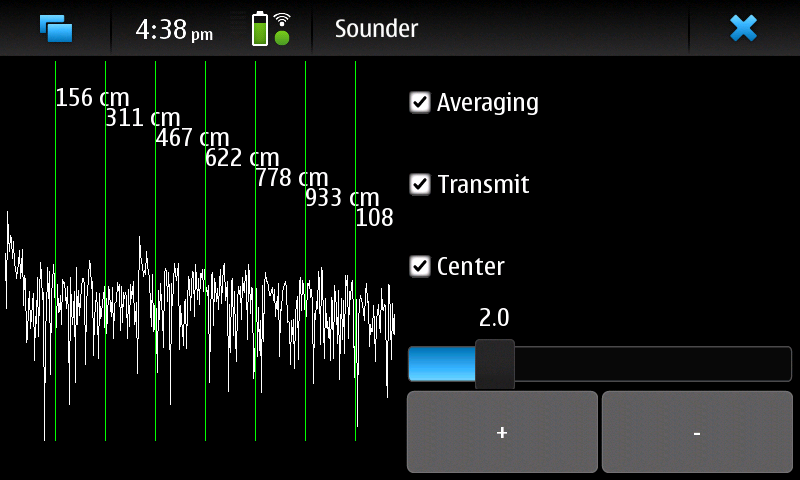 Screenshot of my acoustic sounder program
