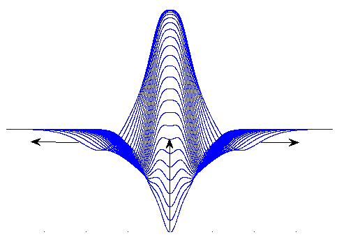 A representation of a traveling wave solution